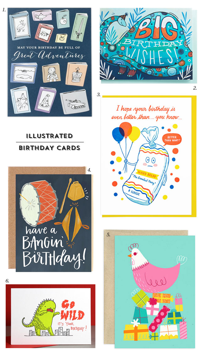 Illustrated Birthday Cards