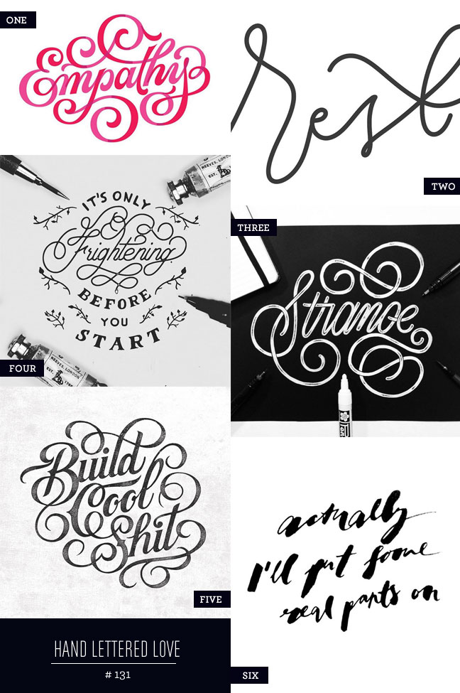 Hand Lettered Love #131