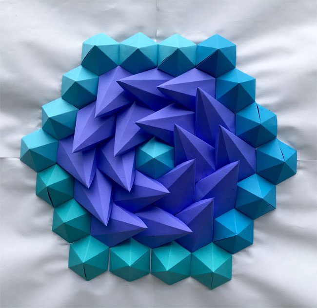 3D Paper Kaleidoscope Tessellations by Brandon Clark