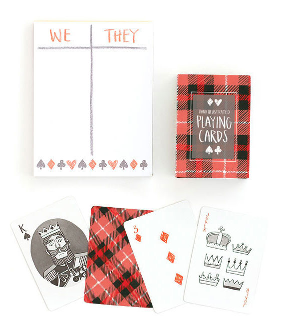 Plaid Playing Cards from 1Canoe2