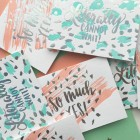 Birch & Goldberry + Charm & Fig Holographic Foil + Letterpress Greeting Cards #BGxCF