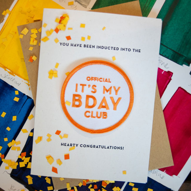 Birthday Patch Card from Constellation & Co.