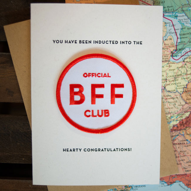 BFF Patch Card from Constellation & Co.