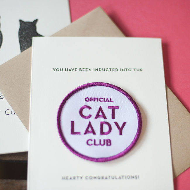 Cat Lady Patch Card from Constellation & Co.