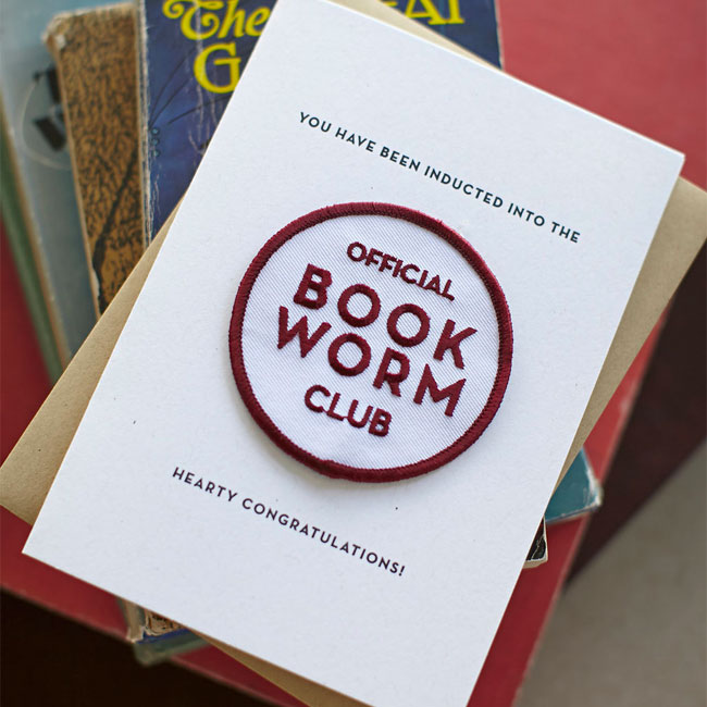 Book Worm Patch Card from Constellation & Co.