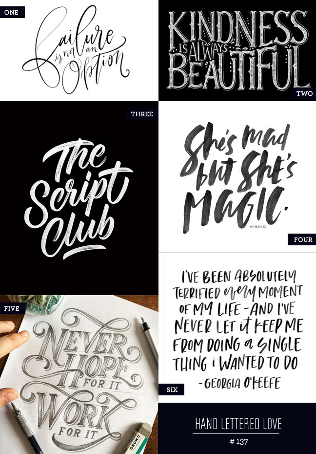 Hand Lettered Love #137
