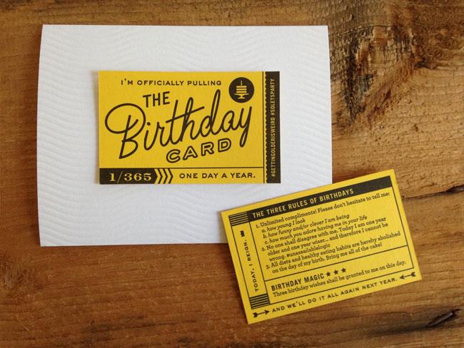 Igloo Letterpress Birthday Card