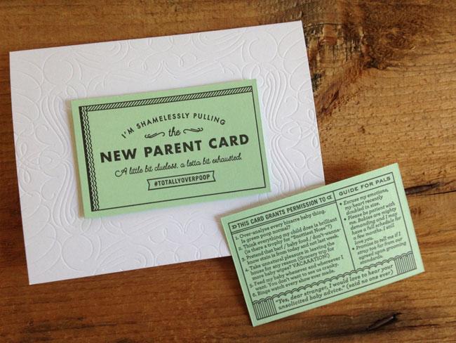Igloo Letterpress New Parent Card