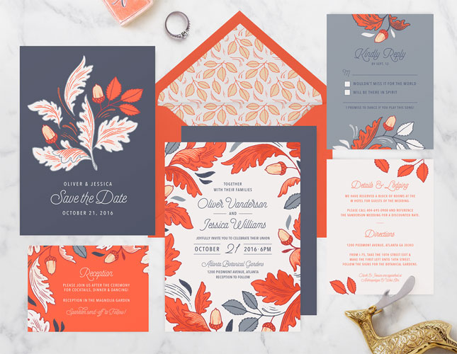 Autumn Harvest Wedding Invitations from Paper Raven Co.