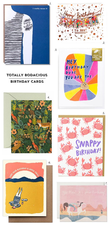 7 Bodacious Birthday Cards