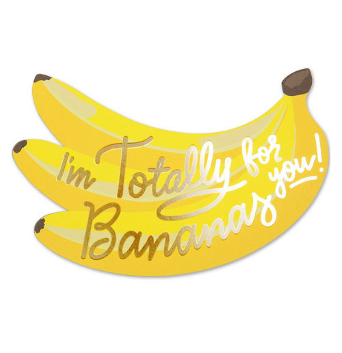 Die Cut Bananas Card from The Social Type