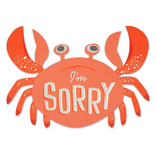 Die Cut Crab Card from The Social Type