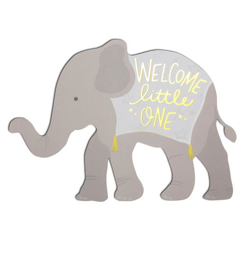 Die Cut Elephant Card from The Social Type