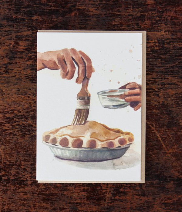 Apple Pie Cards from Bison Bookbinding + Jessica Lynn Bonin