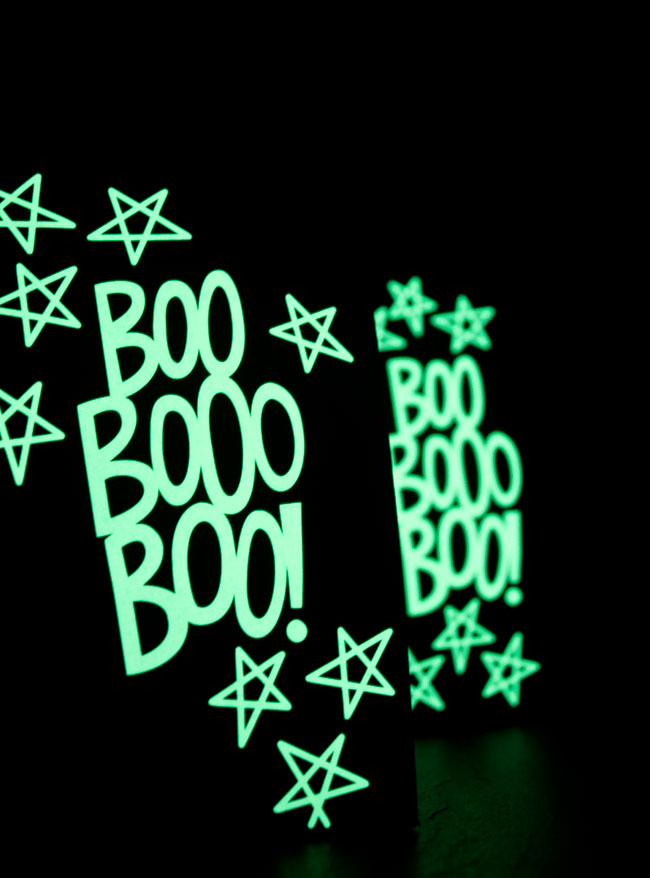 DIY Glow in the Dark Halloween Treat Bag Tutorial from k.becca
