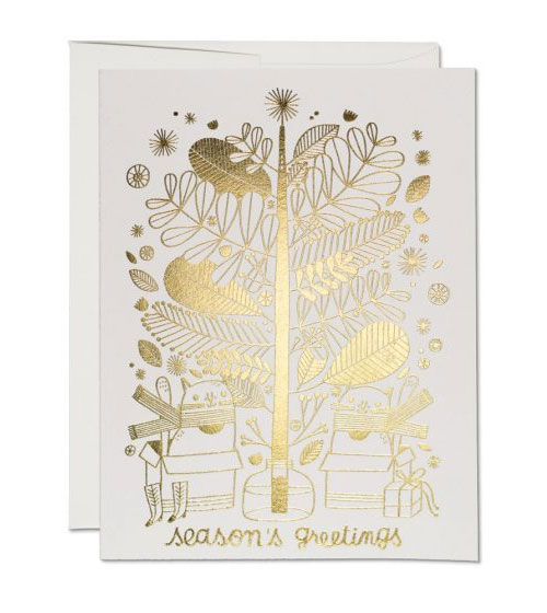 Gold Foil Holiday Cards by Anke Weckmann for Red Cap Cards