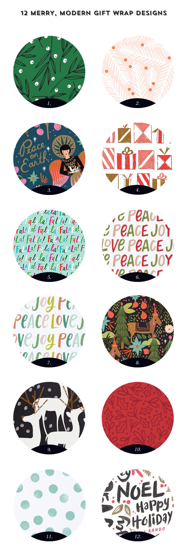 12 Merry, Modern Holiday Gift Wrap Designs