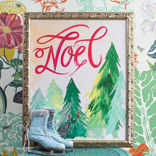 Noel Canvas Print from Lindsay Letters