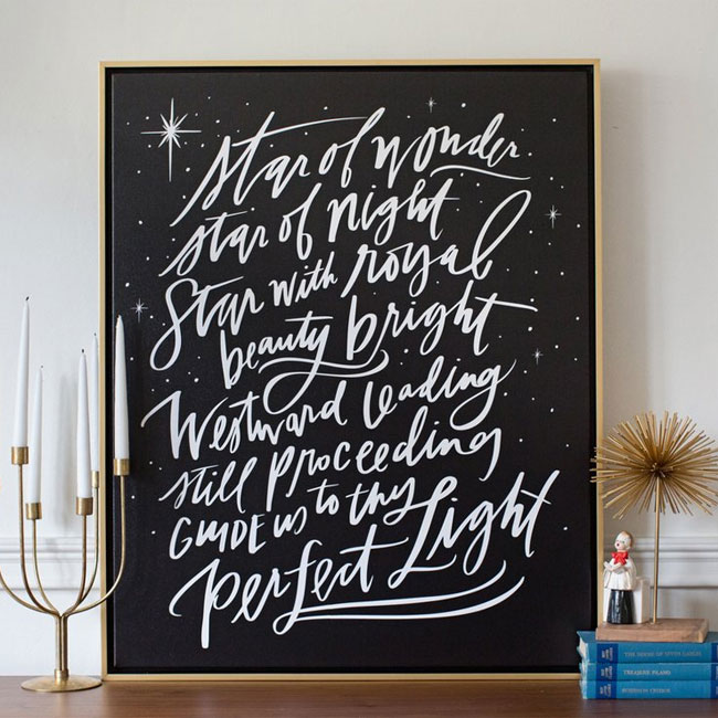 Star of Wonder Canvas Print from Lindsay Letters