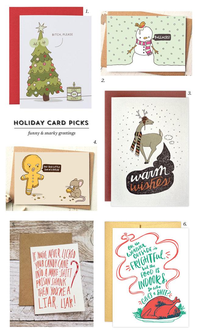 Funny & Snarky Holiday Cards