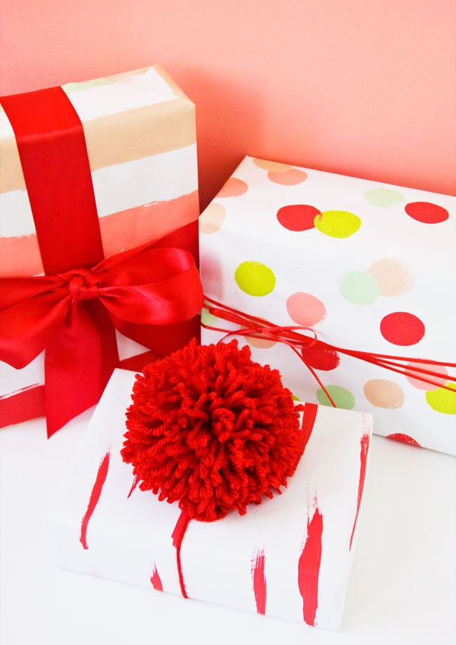 Make Hand Painted Wrapping Paper