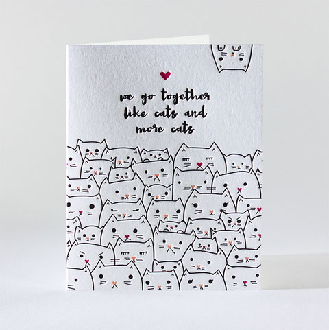 Kitty Friendship Letterpress Card | elum