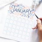 Free Printable January Calendar from Archer & Olive (Use Code NEWYEAR at checkout)