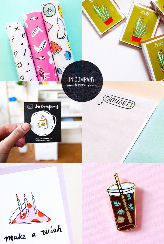 In Company Paper Goods & Enamel Pins