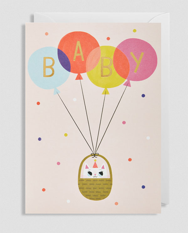 Baby Girl Greeting Card by Allison Black for Lagom