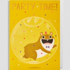 Party Time Greeting Card by Allison Black for Lagom