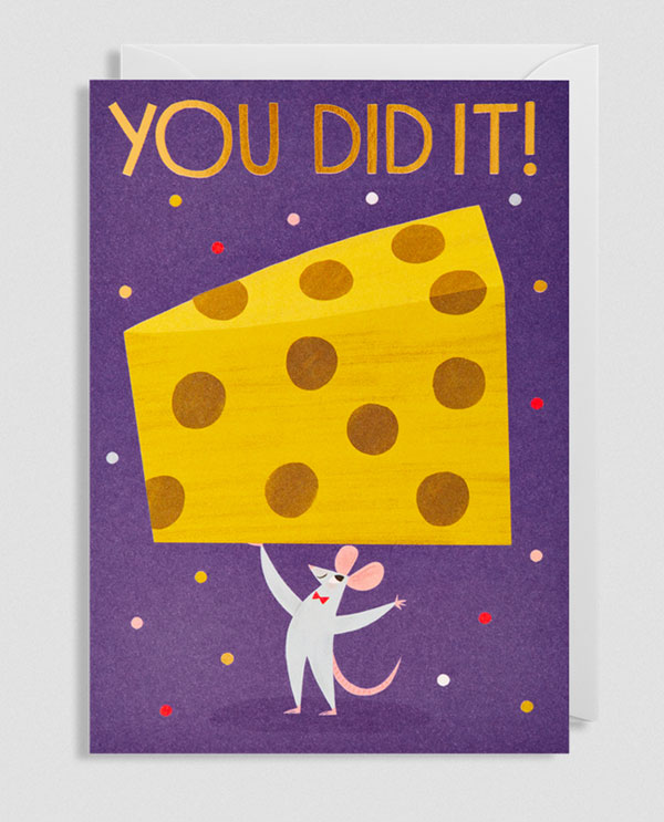 You Did It! Greeting Card by Allison Black for Lagom