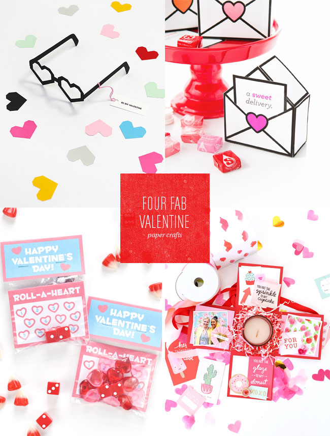 4 Fab Valentine's Day Printables and Paper Crafts