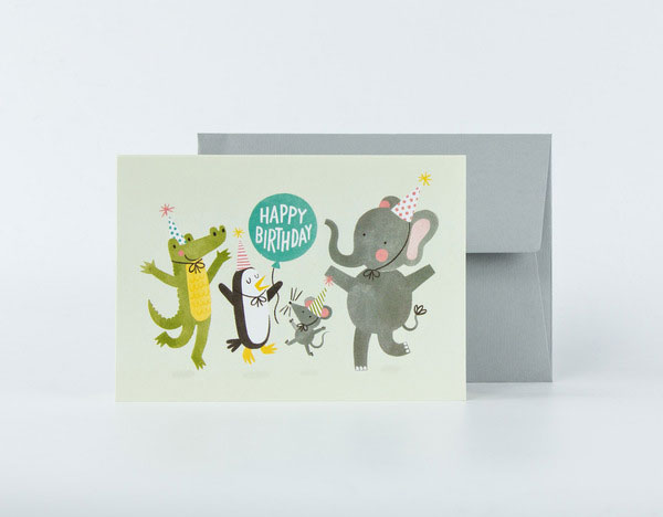 Party Animals Birthday Card by Jacqui Lee for Card Nest