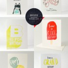 Kikisoso Letterpress Birthday Cards
