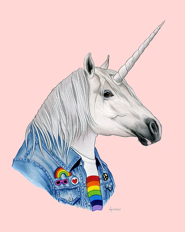 Unicorn Art Print from Ryan Berkley Illustration