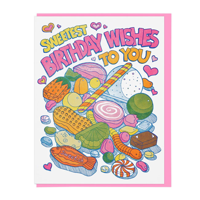 Sweets Letterpress Birthday Card | Lucky Horse Press