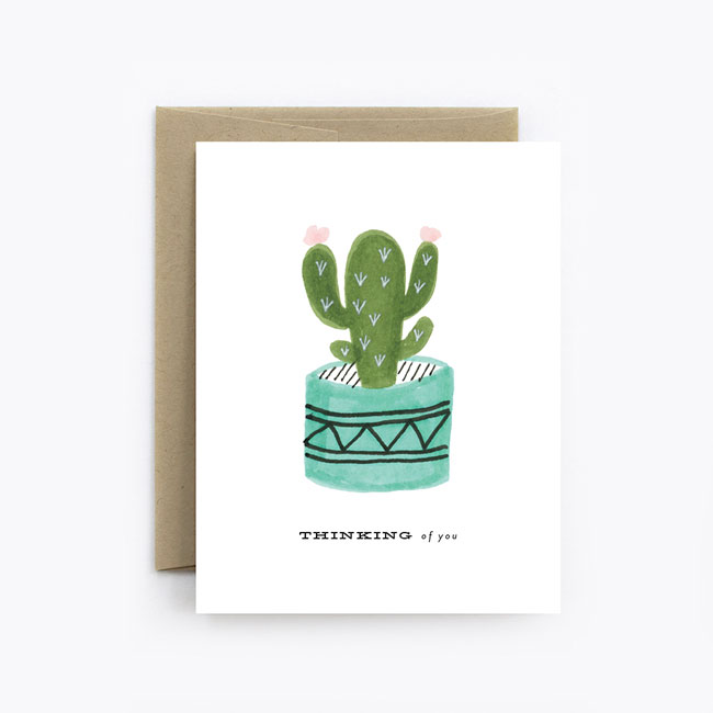 Cactus Thinking of You Card from The Detroit Card Co.