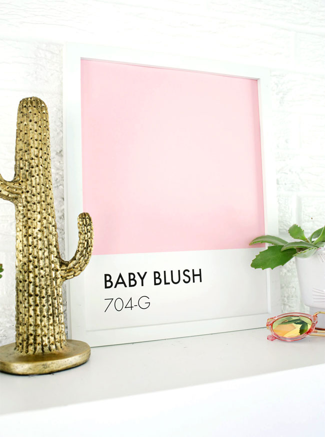 DIY Paint Swatch Wall Art Tutorial from A Beautiful Mess
