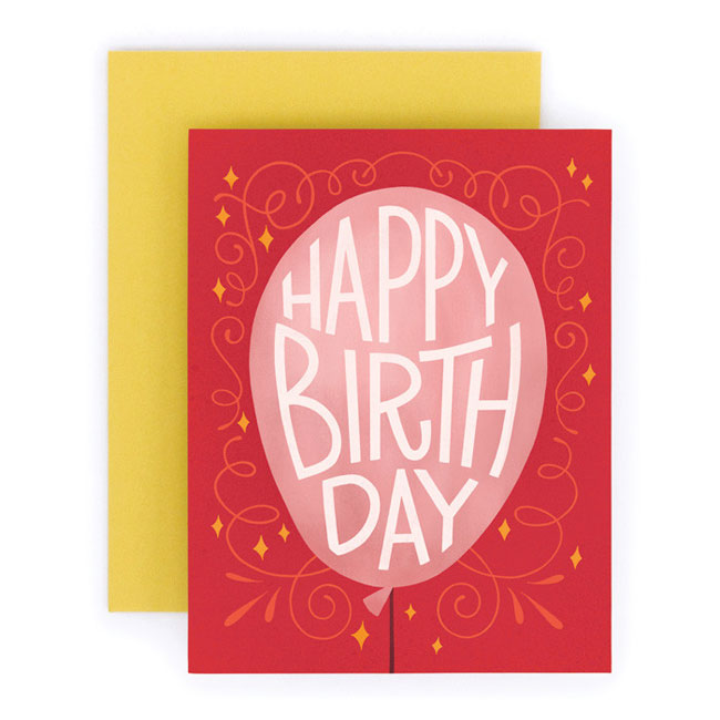 Hand Lettered Birthday Cards from Home Again Creative