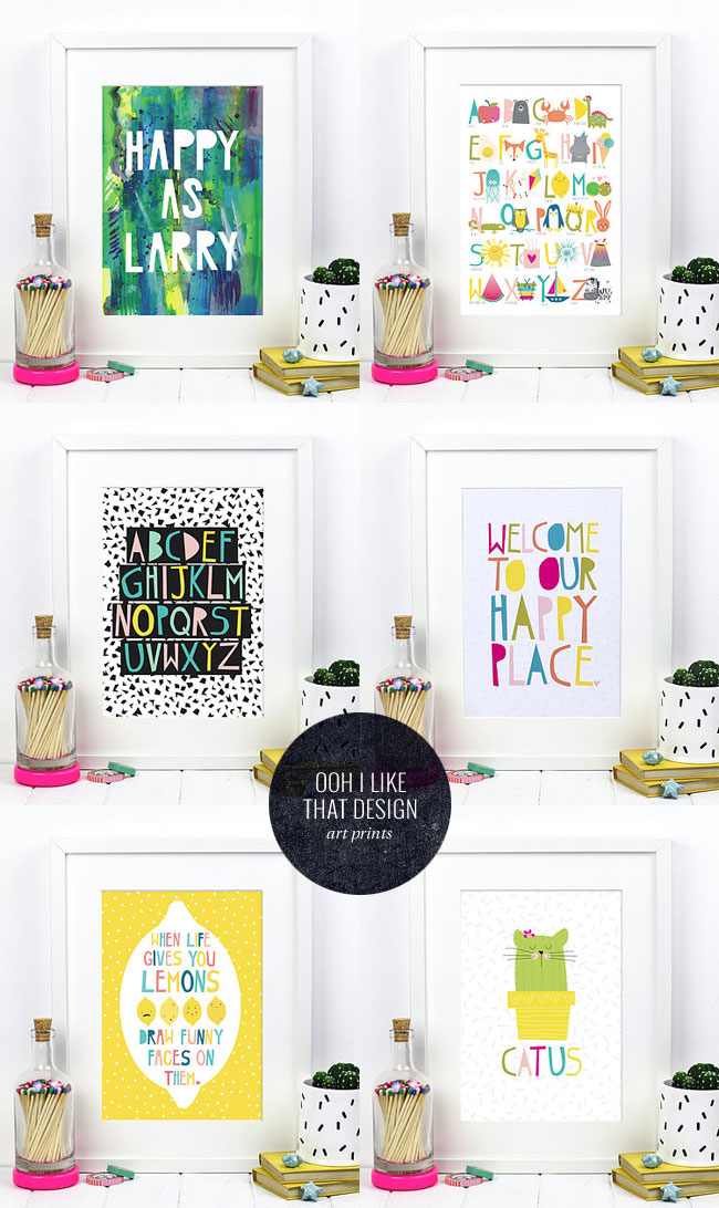 Quirky Art Prints from Ooh I Like That Design