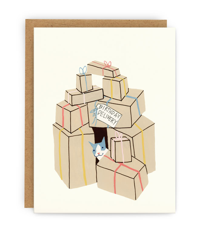 Birthday Delivery Card by Pilgrim Paper Co.