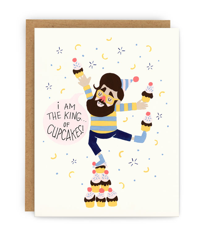 Cupcake King Birthday Card from Pilgrim Paper Co.