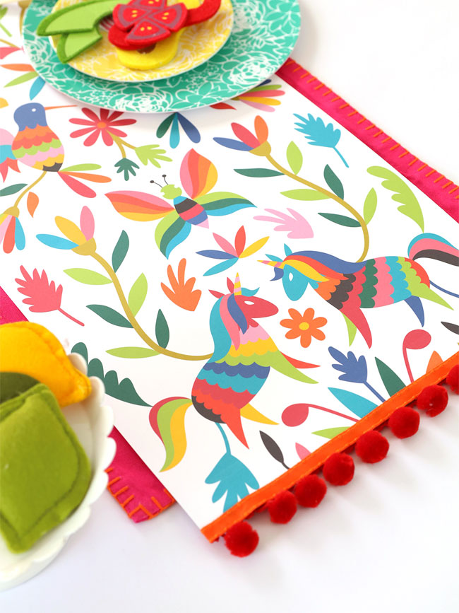 Free Printable Otomi Table Runner / Wall Hanging from Damask Love