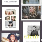 Modern Graduation Announcement from Minted