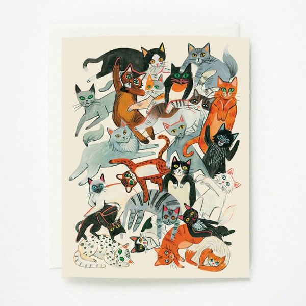 Cats Greeting Card by Quill & Fox