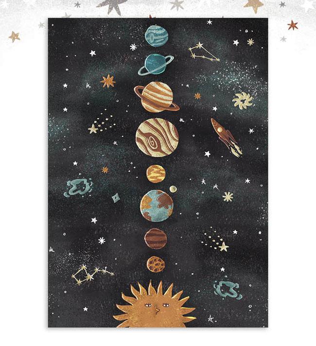 Solar System Art Print by Dot Boat / Daria Danilova
