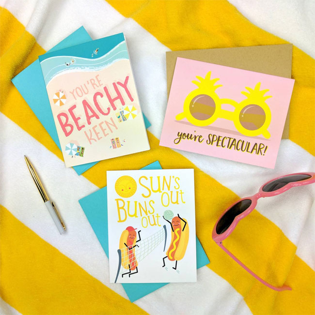 Summertime Greeting Cards by Folk & Fauna Co.