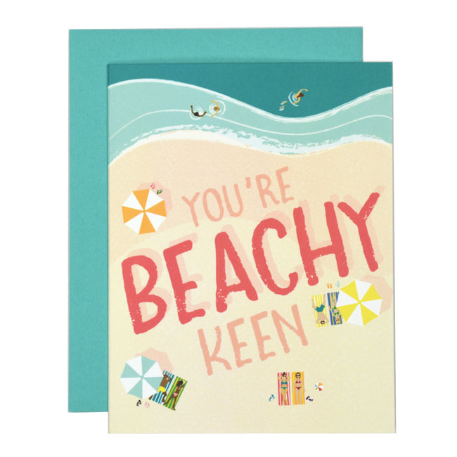 Beachy Keen Card from Folk & Fauna Co.