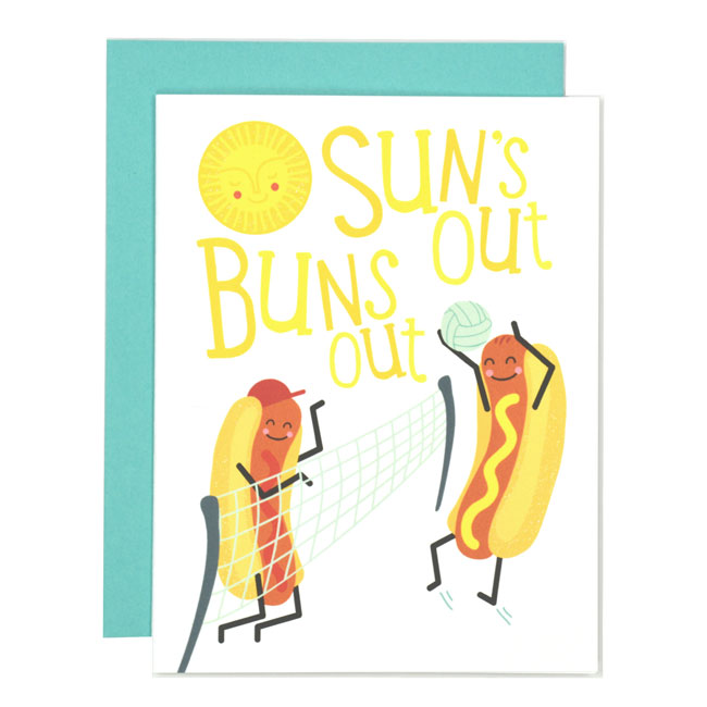 Sun's Out Buns Out Card by Folk & Fauna Co.