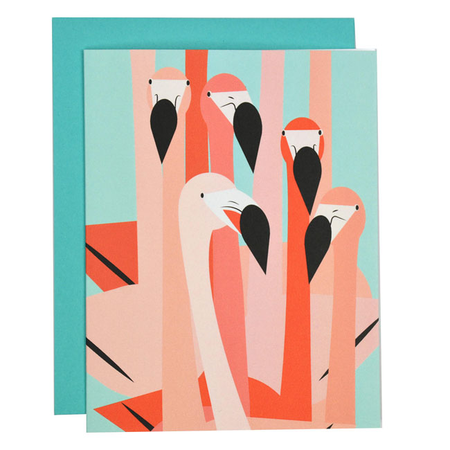 Flamingos Card by Folk & Fauna Co.